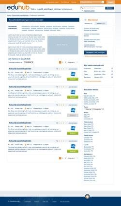 Eduhub concept Onderwerp pagina