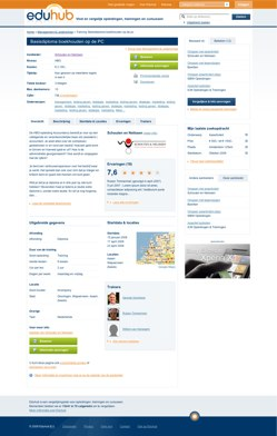 Eduhub concept Training pagina